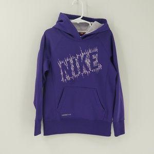 Nike Logo Girls Pullover Hoodie Sweatshirt